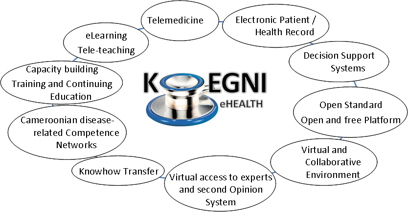 Current application and services of Koegni-eHealth